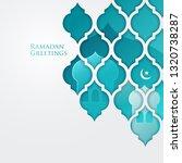 ramadan greetings design   Shutterstock .eps vector #1320738287