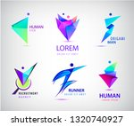 vector set of human  man ... | Shutterstock .eps vector #1320740927