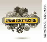 under construction sign with...   Shutterstock .eps vector #132075191