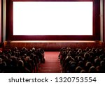 people in the cinema auditorium ... | Shutterstock . vector #1320753554