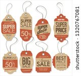paper price tag retro vintage... | Shutterstock .eps vector #1320767081