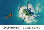 summer tropical island. small...   Shutterstock . vector #1320768797