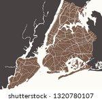 map of ny york city | Shutterstock .eps vector #1320780107
