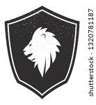 heraldic lion. vector... | Shutterstock .eps vector #1320781187