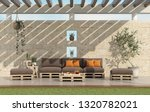 garden with pallet sofa and... | Shutterstock . vector #1320782021