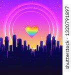 retro futurism. vector... | Shutterstock .eps vector #1320791897