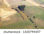 Aerial View Of Fields In Winte...
