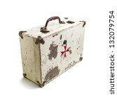 Old Wooden First Aid Kit With...