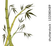 green bamboo stems isolated on... | Shutterstock .eps vector #132080489