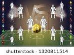 soccer tournament chart ... | Shutterstock .eps vector #1320811514
