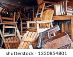 pile of old obsolete wooden... | Shutterstock . vector #1320854801