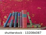 books arrangement free copy... | Shutterstock . vector #132086087