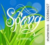 spring time. handwritten... | Shutterstock .eps vector #1320866327