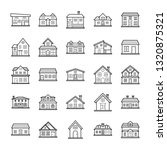 house designs icons pack | Shutterstock .eps vector #1320875321