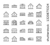 house architectures icons pack  | Shutterstock .eps vector #1320875324