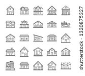buildings and architecture icons | Shutterstock .eps vector #1320875327