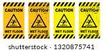 caution wet floor sign slippery ... | Shutterstock .eps vector #1320875741