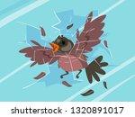 illustration of a bird striking ... | Shutterstock .eps vector #1320891017