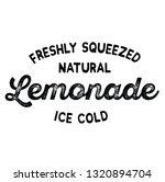 freshly squeezed lemonade label ... | Shutterstock .eps vector #1320894704