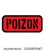poison sign on white background | Shutterstock .eps vector #1320895067