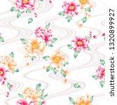 japanese style peony pattern  | Shutterstock .eps vector #1320899927