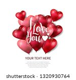 i love you concept design with... | Shutterstock .eps vector #1320930764