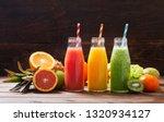 bottles of fruit juice and... | Shutterstock . vector #1320934127