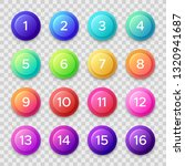 number bullets. circle buttons... | Shutterstock . vector #1320941687