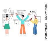 business development with team ... | Shutterstock . vector #1320944081