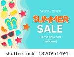 summer sale vector background....   Shutterstock .eps vector #1320951494