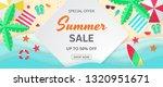 summer sale vector banner.... | Shutterstock .eps vector #1320951671