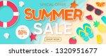 summer sale vector banner.... | Shutterstock .eps vector #1320951677