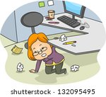 illustration of a woman... | Shutterstock .eps vector #132095495