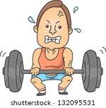 illustration of a man lifting... | Shutterstock .eps vector #132095531