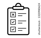 task list line vector icon  | Shutterstock .eps vector #1320980624