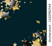diagonal border from confetti... | Shutterstock .eps vector #1320982544