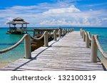 beautiful tropical beach in koh ...   Shutterstock . vector #132100319