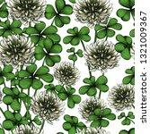 blooming clover seamless... | Shutterstock .eps vector #1321009367