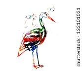 colorful vector stork... | Shutterstock .eps vector #132101021