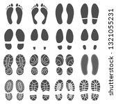 footprints silhouettes.... | Shutterstock .eps vector #1321055231