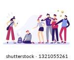 school bullying. mockery... | Shutterstock .eps vector #1321055261