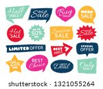grunge sale badge. retro... | Shutterstock .eps vector #1321055264