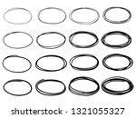 sketch oval frames. doodle... | Shutterstock .eps vector #1321055327