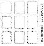 set of hand drawn doodle frames | Shutterstock . vector #1321097324