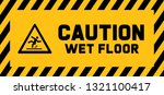caution wet floor sign slippery ... | Shutterstock .eps vector #1321100417