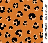 seamless pattern with leopard... | Shutterstock .eps vector #1321103684