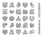 business situations icons set.... | Shutterstock .eps vector #1321106624