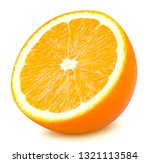 Isolated Orange Fruit. Slice Of ...