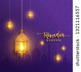 ramadan kareem or eid mubarak... | Shutterstock .eps vector #1321116557
