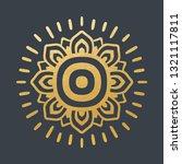 beautiful golden sun. hand... | Shutterstock .eps vector #1321117811